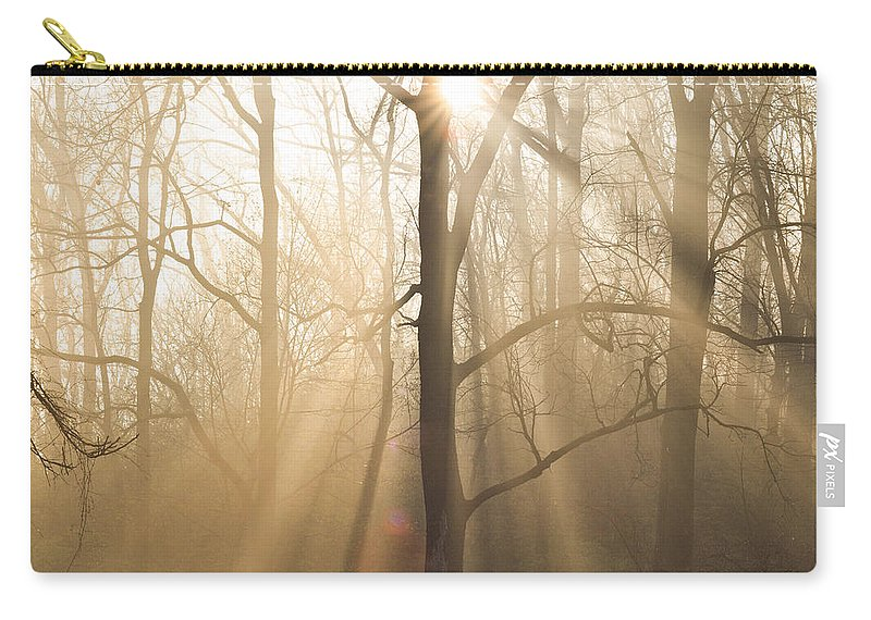 Shine Carry-all Pouch featuring the photograph Shine On Through by Bill Cannon