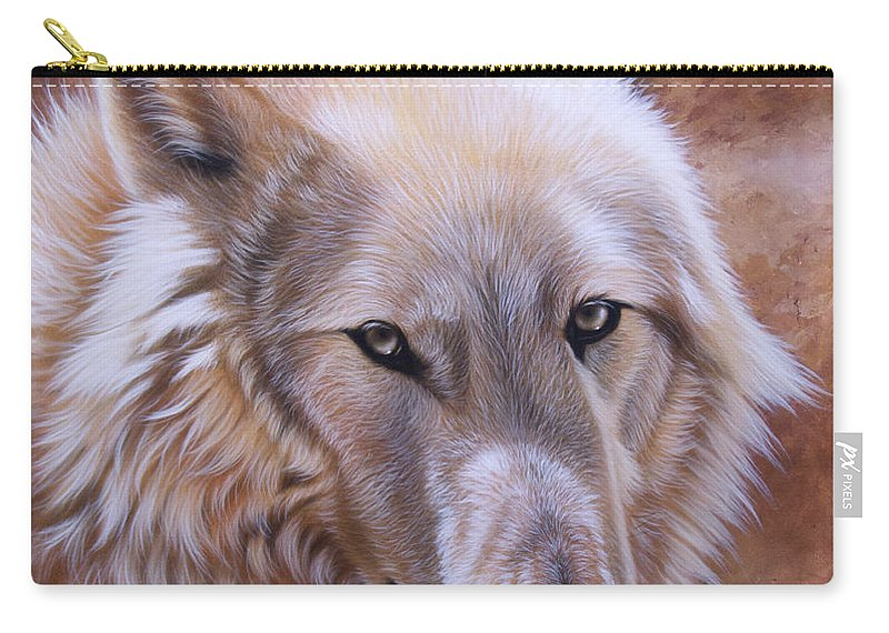 Acrylic Carry-all Pouch featuring the painting Shine by Sandi Baker