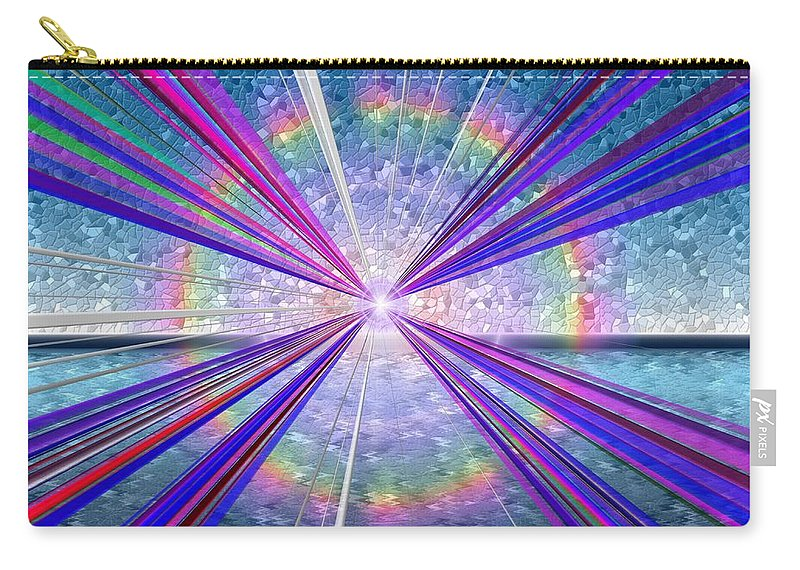 Fine Art Carry-all Pouch featuring the digital art Shining Bright by Tim Allen