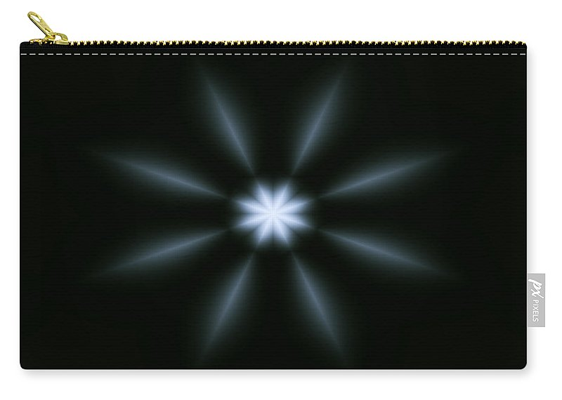 Art Carry-all Pouch featuring the digital art Shining Star by Candice Danielle Hughes