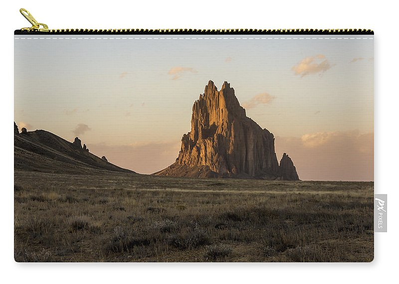 Shiprock Ship Rock Sunset North West New Mexico Nm Carry-all Pouch featuring the photograph Shiprock 2 - North West New Mexico by Brian Harig