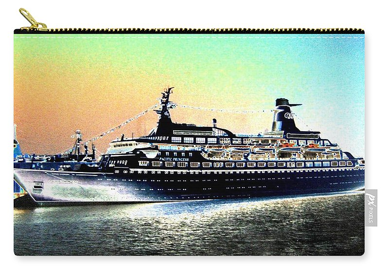Photo Design Carry-all Pouch featuring the digital art Shipshape 1 by Will Borden