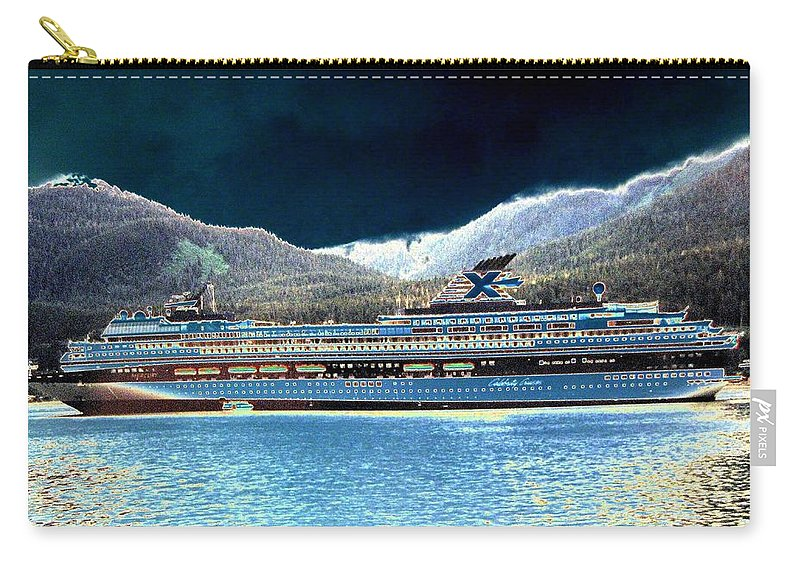 Juneau Carry-all Pouch featuring the digital art Shipshape 10 by Will Borden