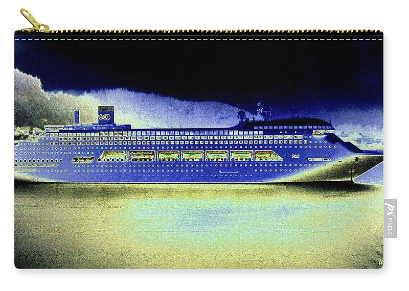 Ketchikan Carry-all Pouch featuring the digital art Shipshape 7 by Will Borden