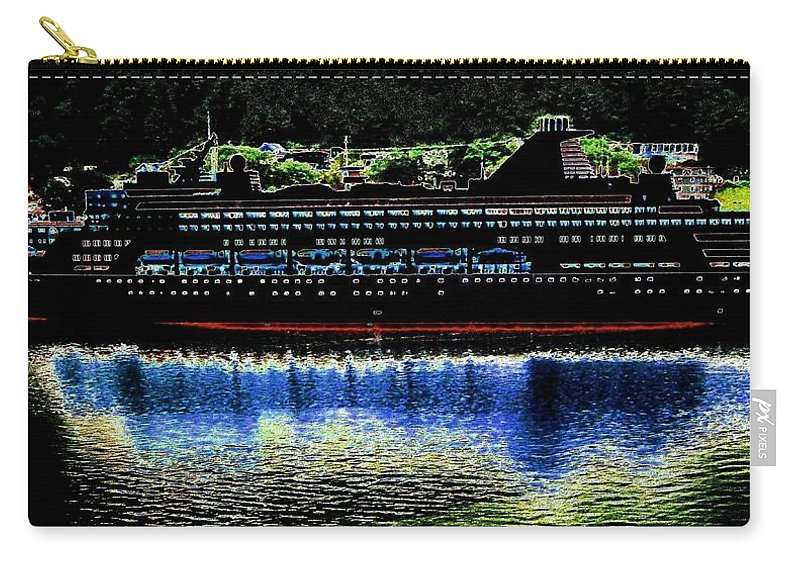 Juneau Carry-all Pouch featuring the digital art Shipshape 8 by Will Borden
