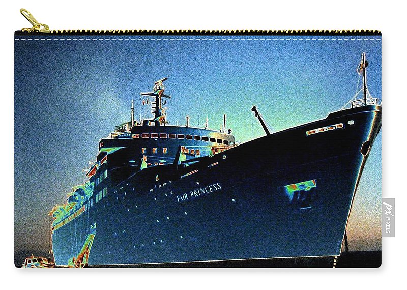 Puerto Vallarta Carry-all Pouch featuring the digital art Shipshape 9 by Will Borden