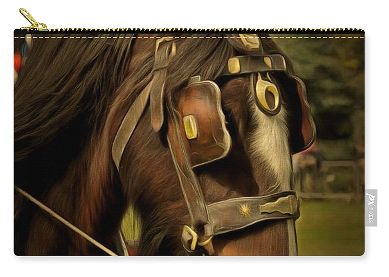 Shire Horse Carry-all Pouch featuring the photograph Shire Horse by Scott Carruthers