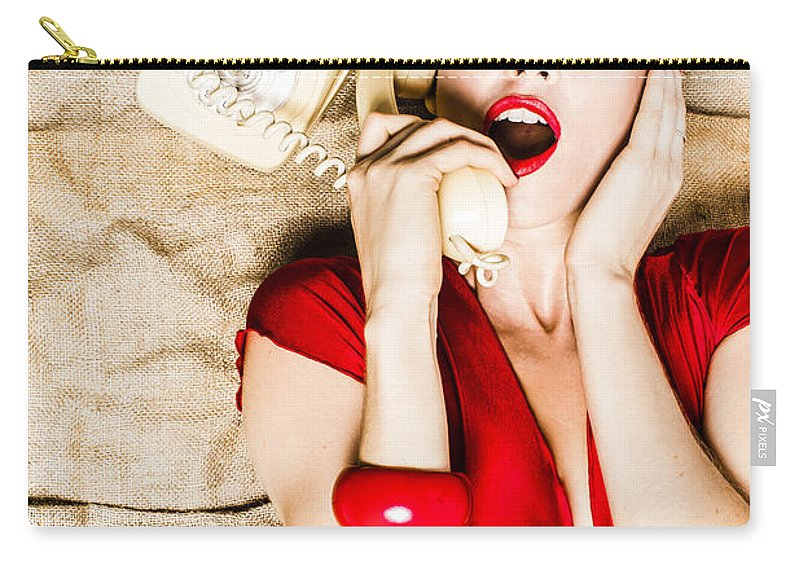 Phone Carry-all Pouch featuring the photograph Shocking News by Jorgo Photography - Wall Art Gallery