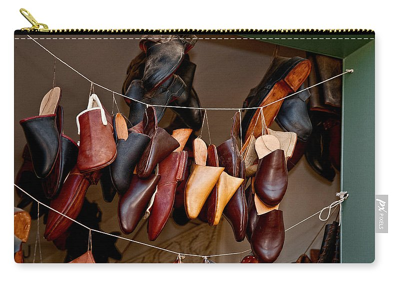 Shoes Carry-all Pouch featuring the photograph Shoes For Sale by Christopher Holmes