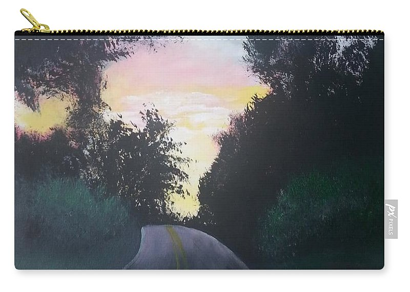 Landscape Carry-all Pouch featuring the painting Shootin Creek Sunrise by Ken Farnsworth