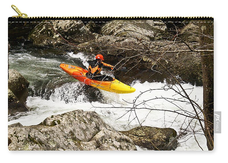 Rapids Carry-all Pouch featuring the photograph Shooting The Rapids by Douglas Barnett