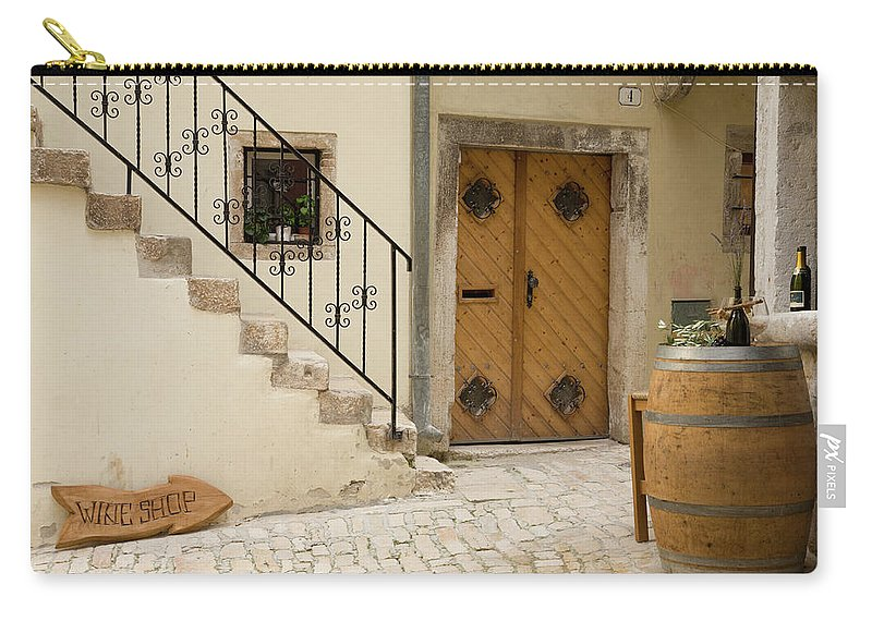 Croatia Carry-all Pouch featuring the photograph Shop In Rovinj by Ian Middleton