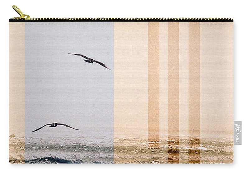 Abstract Carry-all Pouch featuring the photograph Shore Collage by Steve Karol