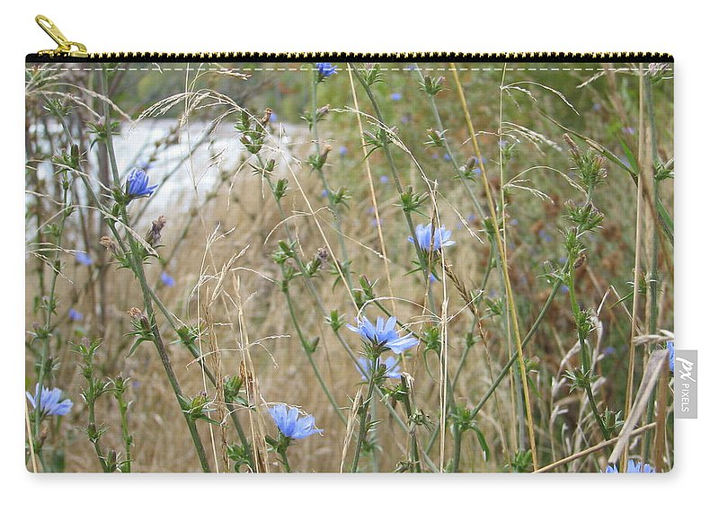 Flower Carry-all Pouch featuring the photograph Shore Flowers by Kelly Mezzapelle