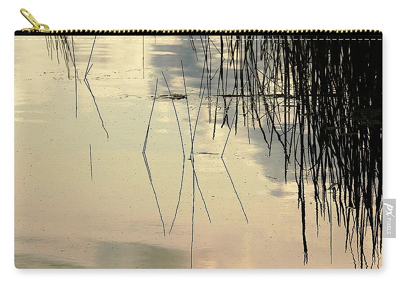 Abstract Carry-all Pouch featuring the photograph Shore Lines by Debbie Oppermann