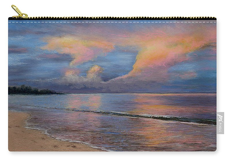 Landscape Carry-all Pouch featuring the pastel Shore Of Solitude by Susan Jenkins