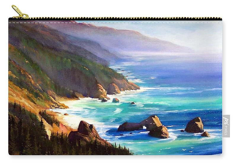 Seascape Carry-all Pouch featuring the painting Shore Trail by Frank Wilson