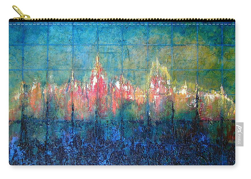 Seascape Carry-all Pouch featuring the painting Shorebound by Shadia Derbyshire