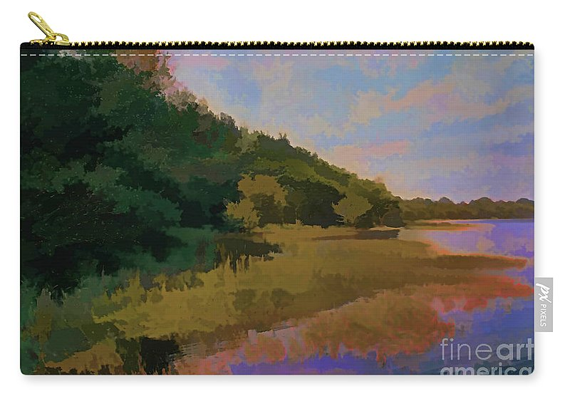 Seascapes Carry-all Pouch featuring the photograph Shoreline by Tom Prendergast