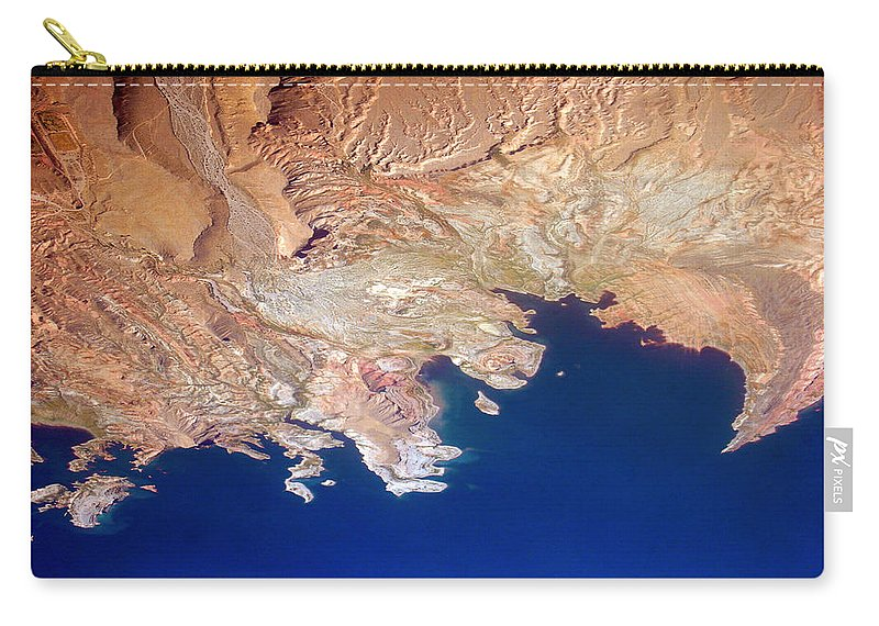 Abstract Carry-all Pouch featuring the photograph Shores Of Lake Mead Planet Art by James BO Insogna