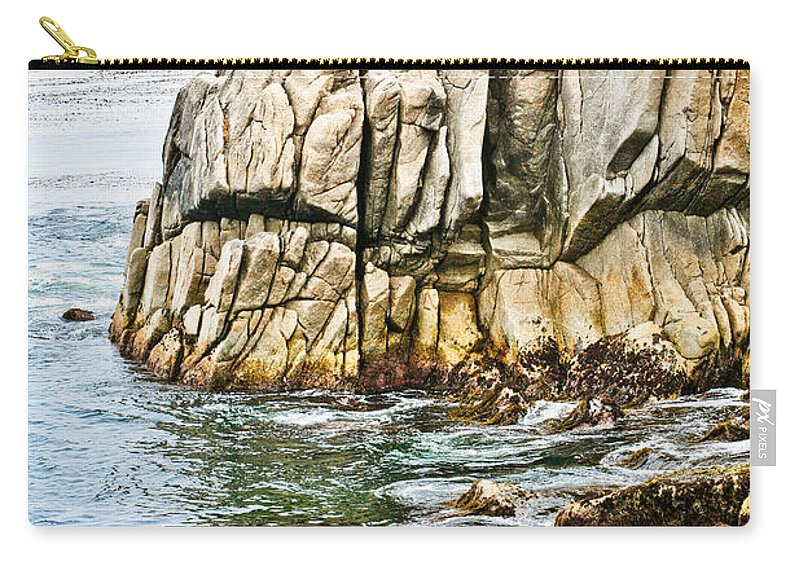 Pebble Beach Carry-all Pouch featuring the photograph Shores Of Pebble Beach by Marilyn Hunt
