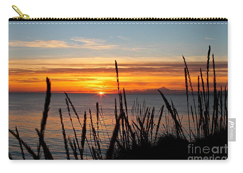 Sunset Carry-all Pouch featuring the photograph Short Winter Day by Rick Monyahan