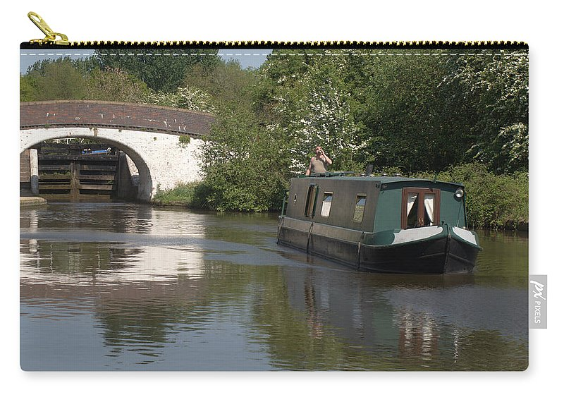 Narrowboat Carry-all Pouch featuring the photograph Shouldnt Drink And Drive by Chris Day