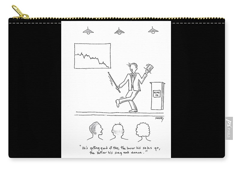 Cartoon Carry-all Pouch featuring the drawing Show And Tell by Don Henry