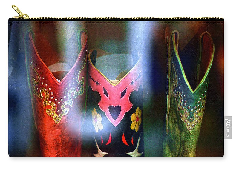 Boots Carry-all Pouch featuring the photograph Show Boots by Ira Shander