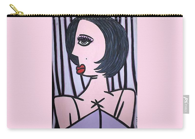 Potrait Carry-all Pouch featuring the painting Show Girl by Thomas Valentine