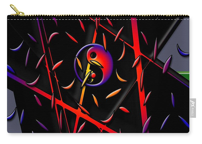 Yin Yang Symbol Abstract Carry-all Pouch featuring the digital art Showering Blessings by Rizwana A Mundewadi