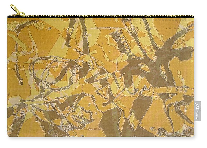 Abstract Carry-all Pouch featuring the digital art Shredded Notebook Stencil by Ron Bissett