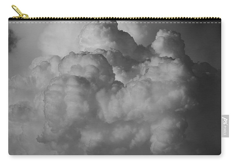 Black And White Carry-all Pouch featuring the photograph Shrimp Clouds by Rob Hans