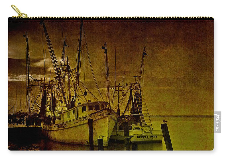 Shrimp Boat Carry-all Pouch featuring the photograph Shrimpboats In Apalachicola by Susanne Van Hulst