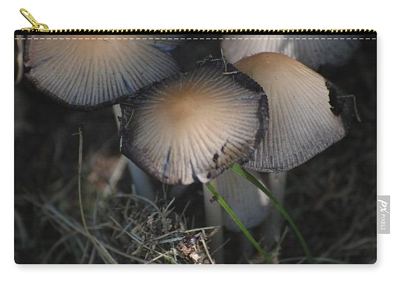 Digital Photograph Carry-all Pouch featuring the photograph Shrooms 1 by David Lane