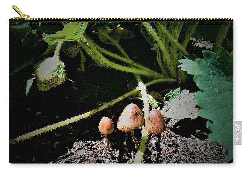Carry-all Pouch featuring the photograph Shrooms by Robert Walters