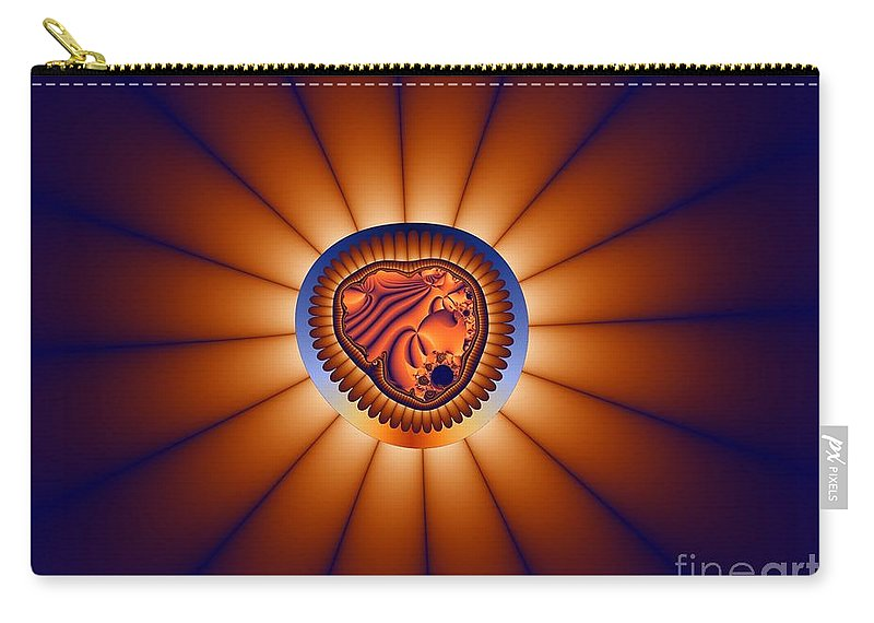 Fractal Image Carry-all Pouch featuring the digital art Shutter by Ron Bissett