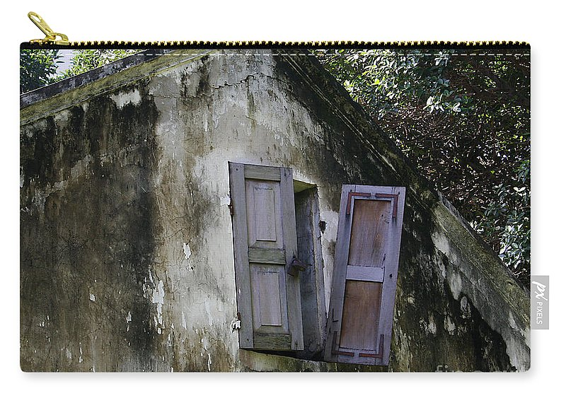 Vietnam Carry-all Pouch featuring the photograph Shuttered #3 by PJ Boylan