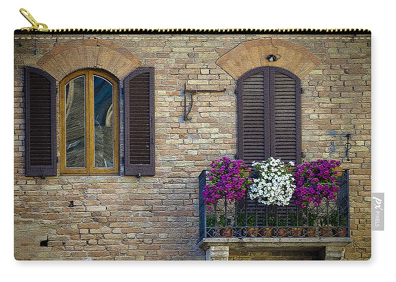 Italy Carry-all Pouch featuring the photograph Shutters by Gary Lengyel