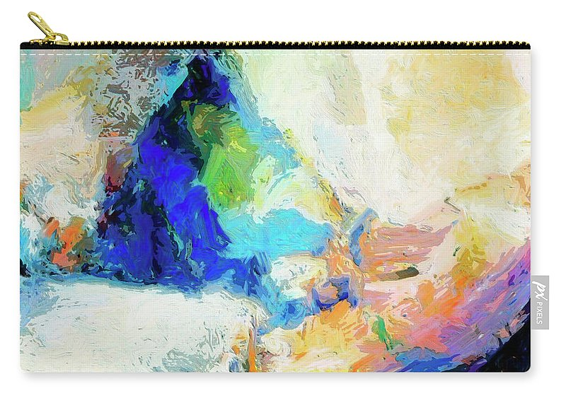 Abstract Carry-all Pouch featuring the painting Shuttle by Dominic Piperata