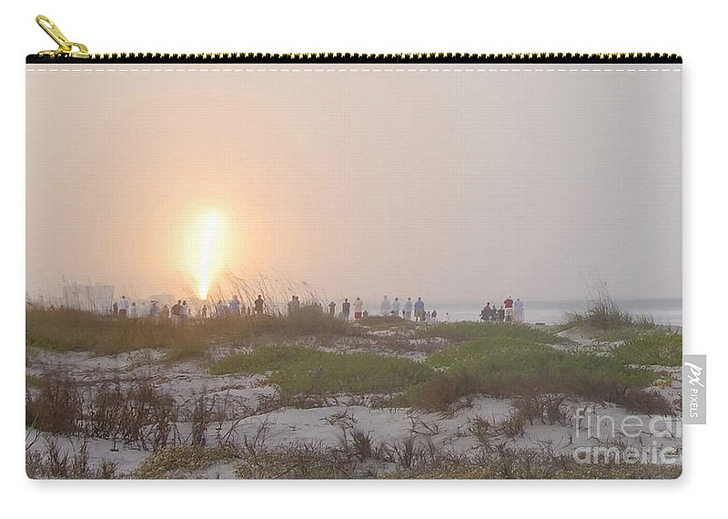 Shuttle Launch Carry-all Pouch featuring the photograph Shuttle Launch by David Lee Thompson