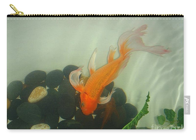 Orange Carry-all Pouch featuring the photograph Siamese Fighting Fish 1 by Mary Deal