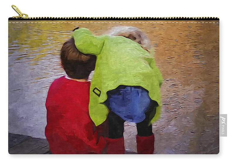 2d Carry-all Pouch featuring the digital art Sibling Love by Brian Wallace