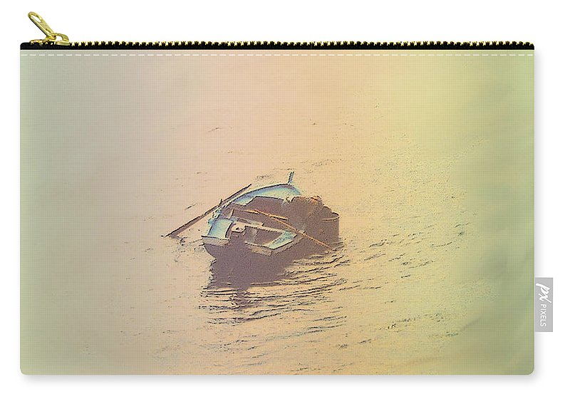 Boat Carry-all Pouch featuring the photograph Sicilian Fisherman In Mondello Bay by Ian MacDonald
