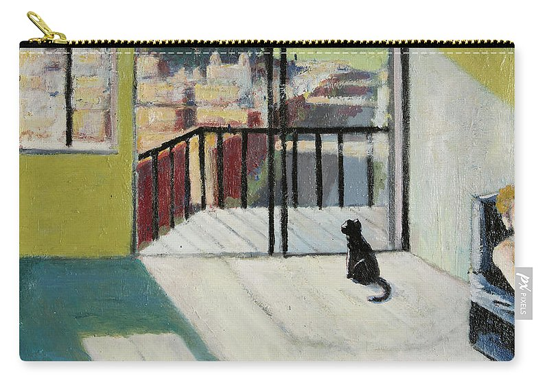 San Francisco Carry-all Pouch featuring the painting Sick Day San Francisco by Craig Newland