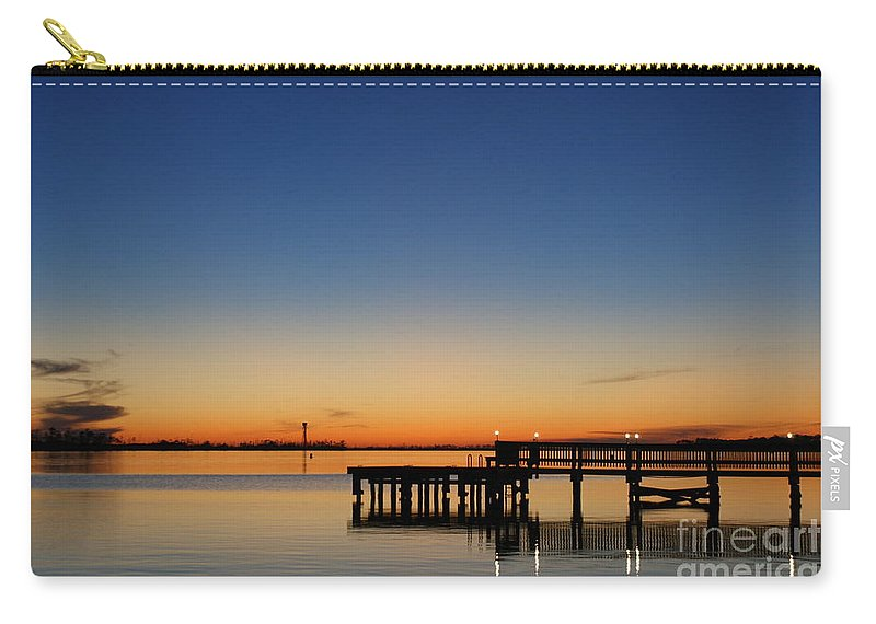 Sound Carry-all Pouch featuring the photograph Calmer Waters by Jennifer Diaz