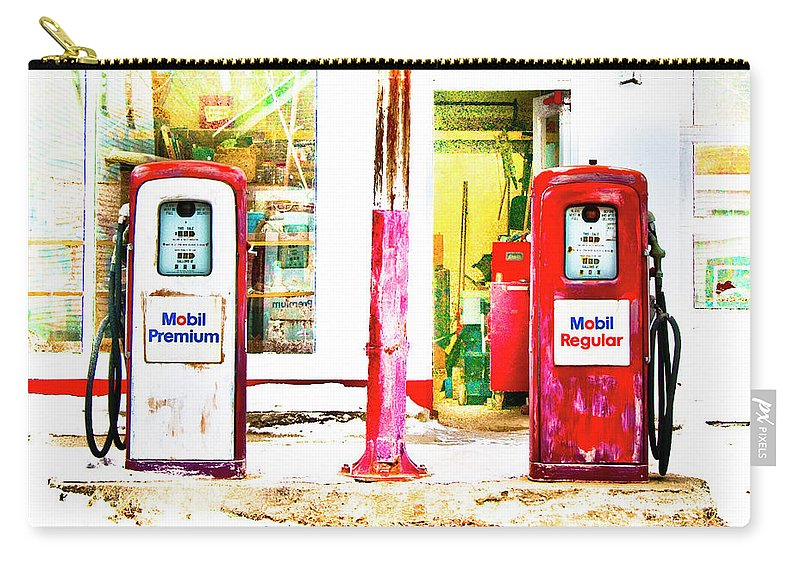 Gas Pumps Carry-all Pouch featuring the photograph Side By Side by Jeff Cooper