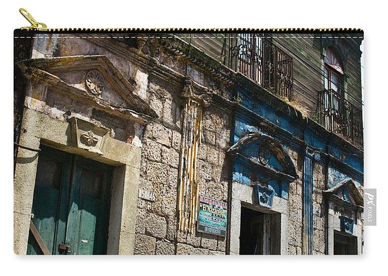 Quezaltenango Carry-all Pouch featuring the photograph Side Street Homes Antiqua Guatemala 4 by Douglas Barnett