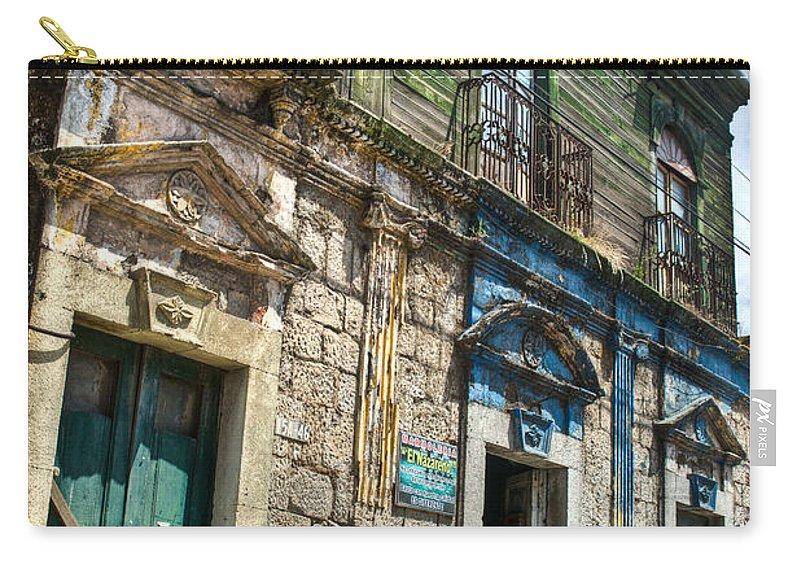 Quezaltenango Carry-all Pouch featuring the photograph Side Street Homes Antiqua Guatemala 5 by Douglas Barnett