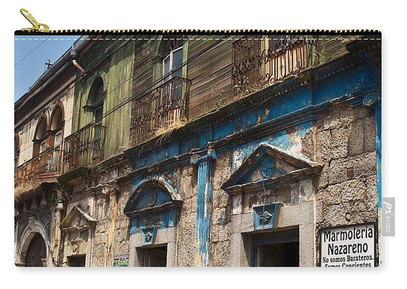 Quezaltenango Carry-all Pouch featuring the photograph Side Street Quezaltenango Guatemala by Douglas Barnett